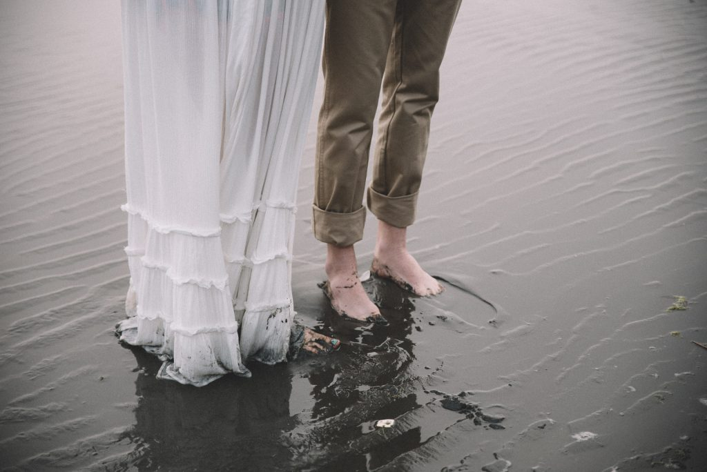 a bride and groom detail shot from their Ruby Beach, WA elopement