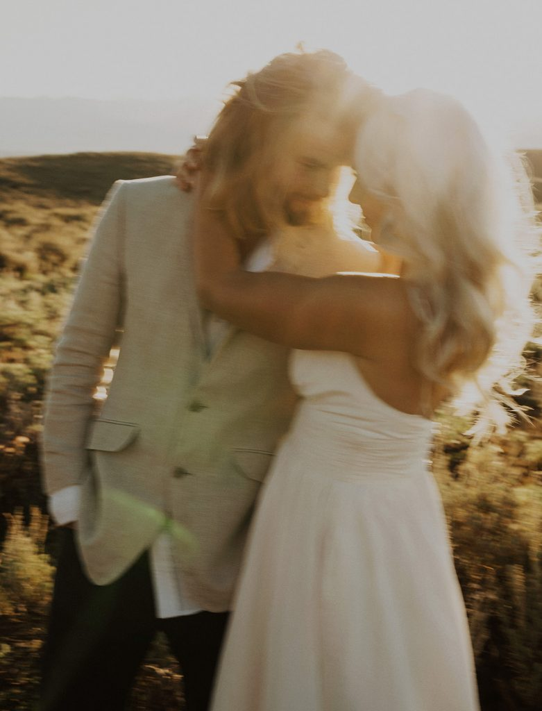 Bride and groom portraits from their elopement in Jackson Hole, WY