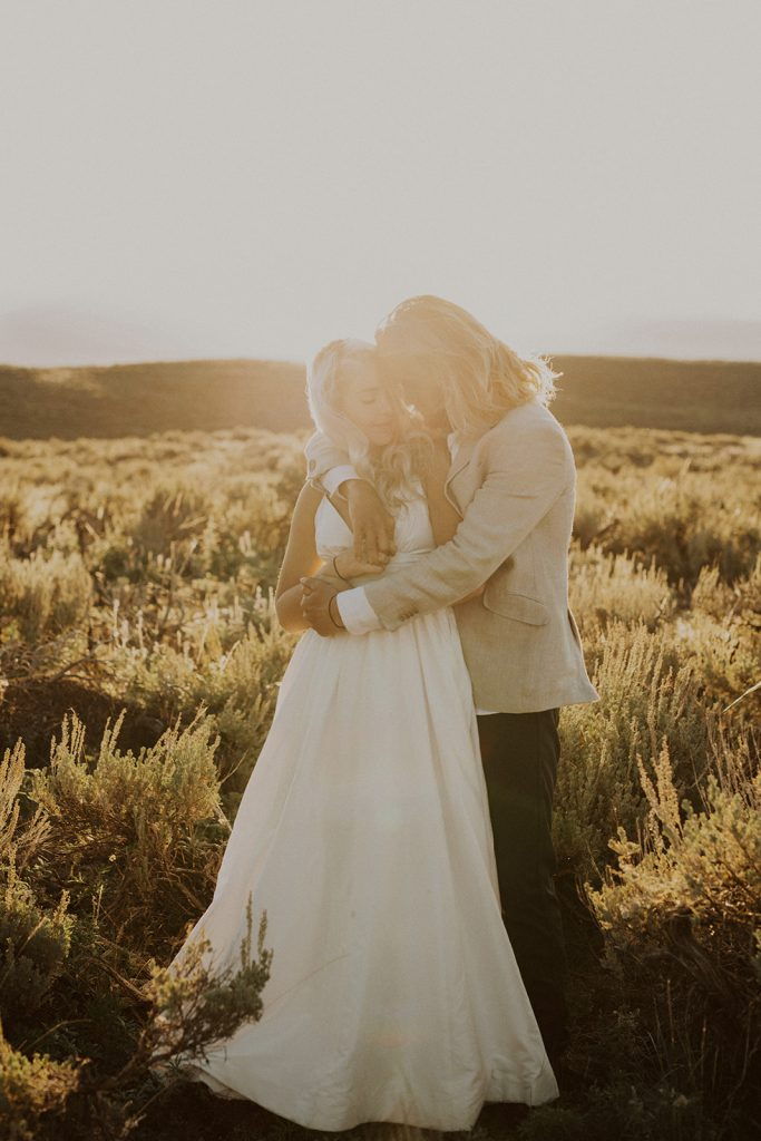 Bride and groom portraits from their Jackson Hole, WY elopement