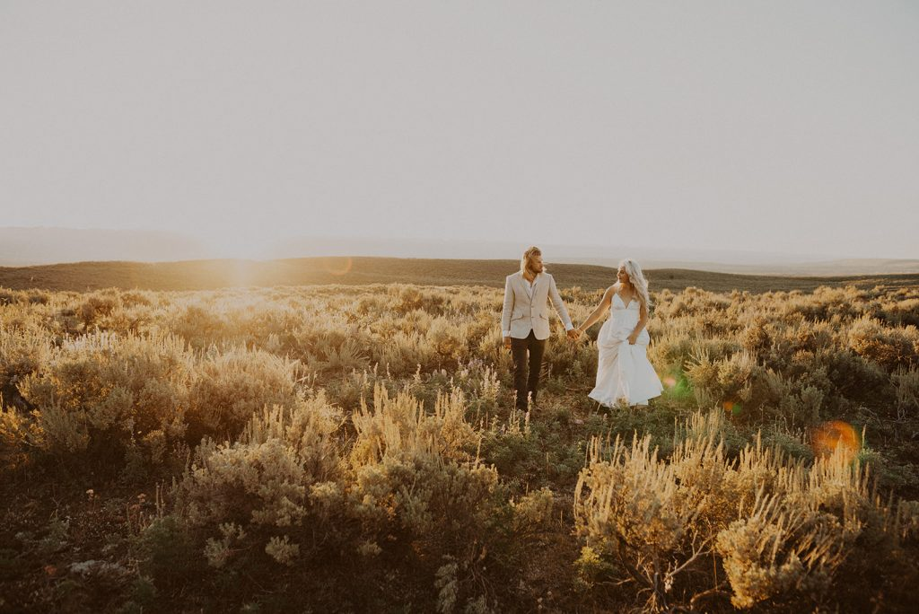 Bride and groom portraits during their Jackson Hole, WY vow renewal