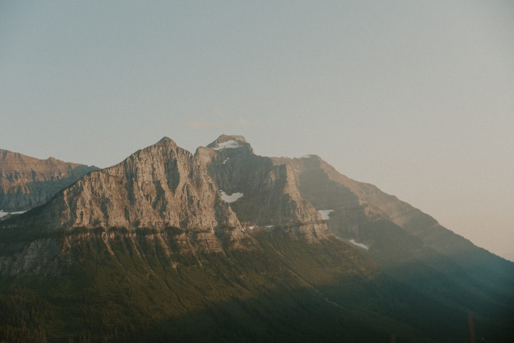 A photo of glacier national park in Montana