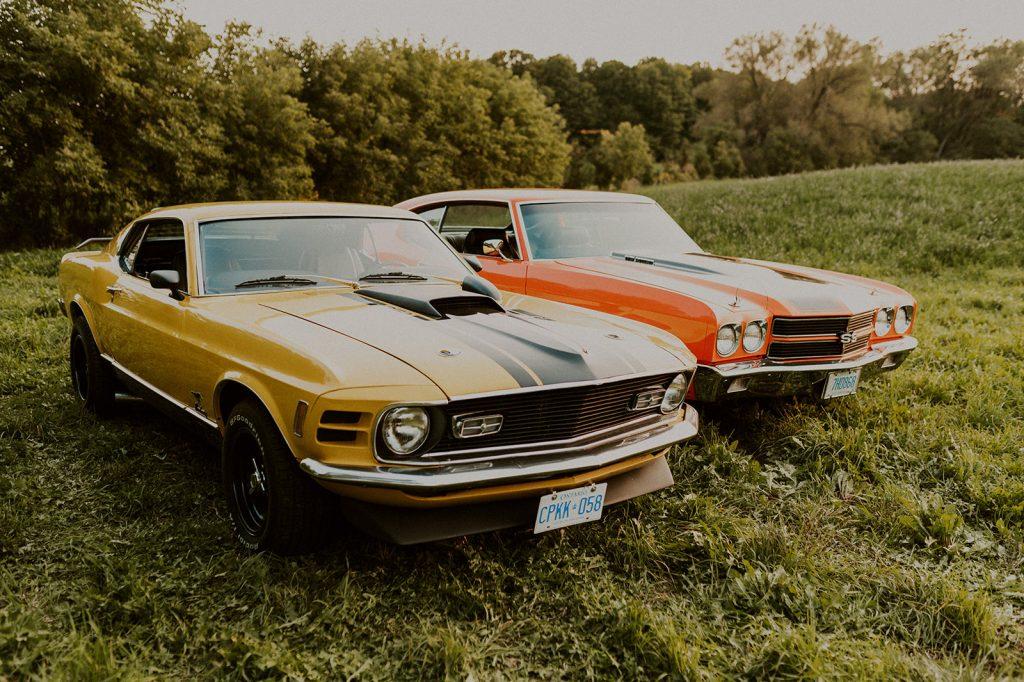 a couples vintage cars